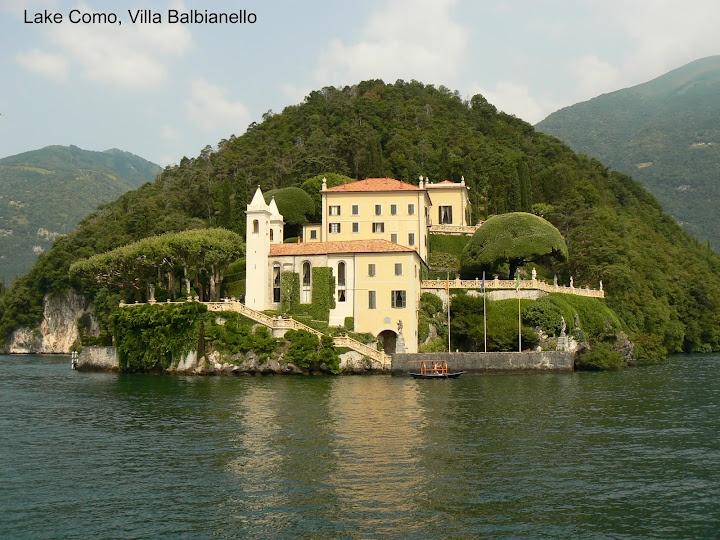 Villa Balbianello. Movie set used in James Bond: Casino Royal, and Star Wars.