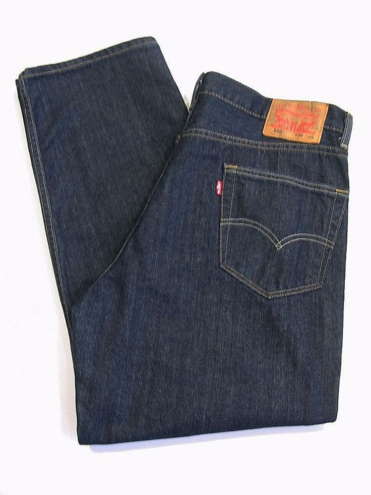 LEVI STRAUSS 550 Jeans Pants Mens Relaxed Fit Denim Dark Blue Size 36 x 29 #Levis #Relaxed
