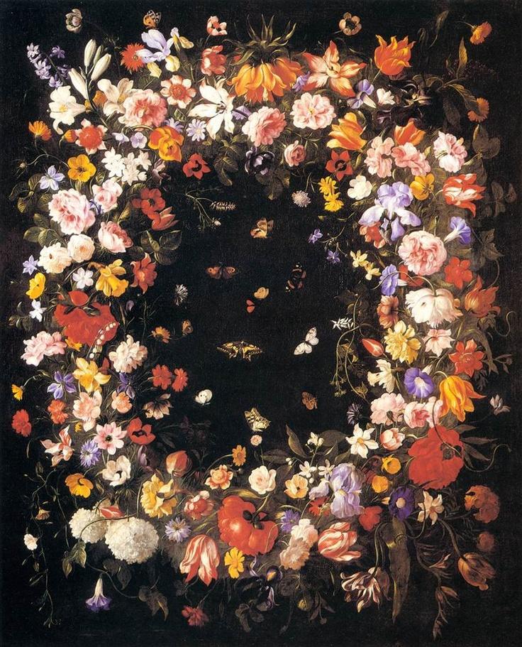 Pier Francesco Cittadini - Ghirlanda di Fiori, seconda metà del XVII sec. Pinacoteca Nazionale di Bologna.
