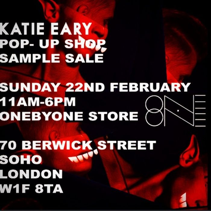 Katie Eary sample sale and popup shop -- London -- 22/02