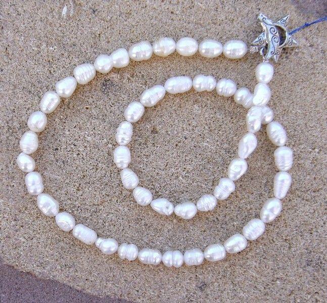 Ketten & Colliers - Perlenkette Suesswasserperlen - ein Designerstück von SonnenRegenschein bei DaWanda