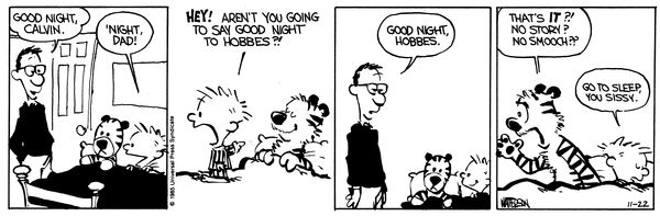Calvin and Hobbes Comic Strip, November 22, 1985 on GoComics.com