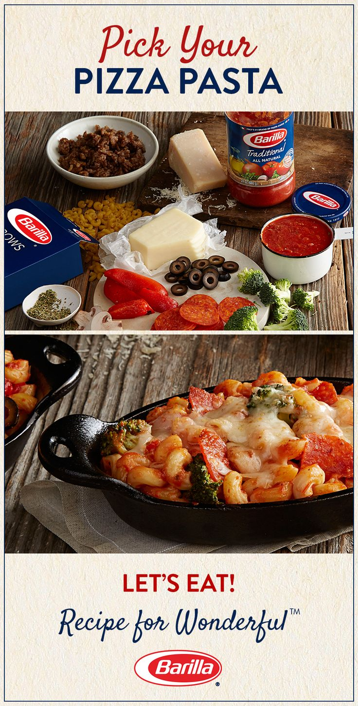 Pizza + pasta = automatic family favorite! Enjoy this easy pasta dish that you can customize with your favorite toppings.