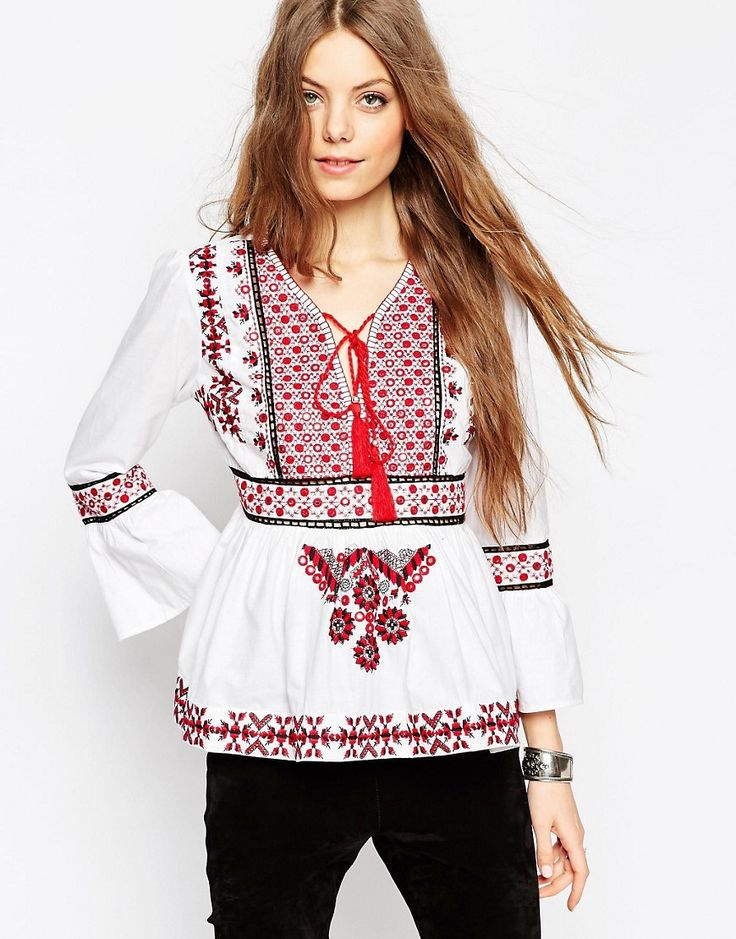 ASOS+Ultimate+Embroidered+70s+Folk+Blouse