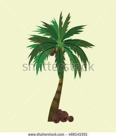 Coconut trees design vector 5. Vector illustration. Coconut tree icon