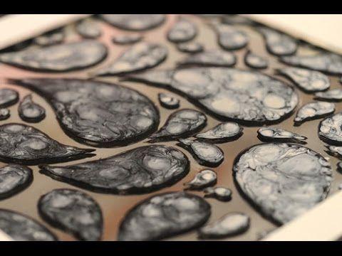 Esmaltes al agua - Efectos con Pinturas - Pintar espejos - Lidia Gonzale...