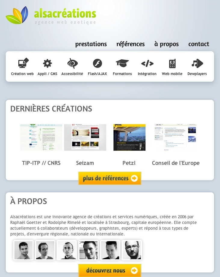 http://www.alsacreations.fr/  Medium sized