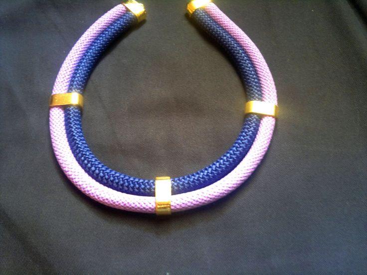 lilac-dark blue necklace