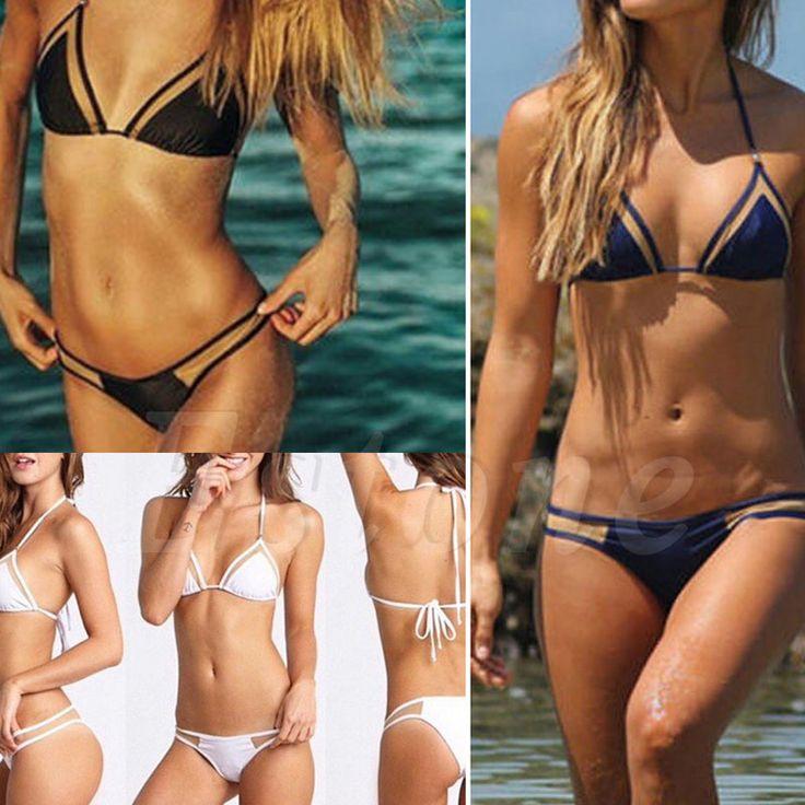 Sexy Vendaje de Las Mujeres Bikini Set Push-Up Con Relleno Sujetador Bañador Traje de Baño