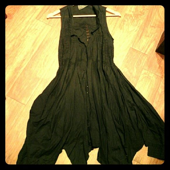 Asymmetrical AllSaints dress This beautiful but hard to picture dress from All saints is asymmetrical with see-through lace detailing all over. It is black in color and has been used twice. It is a size 8 but fits like a 4. All Saints Dresses Asymmetrical
