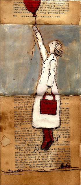 Michèle Meister: June 2011 love this painting on book pages