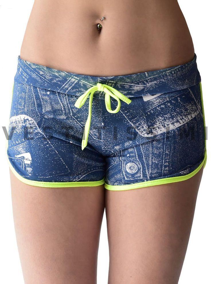Pantaloncini sportivi donna shorts fitness corti hot pants sport palestra gym S5