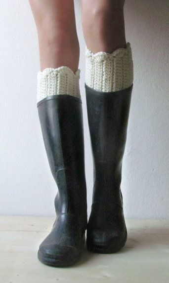 Boot cuff off white boot cuffs Rustic clothing