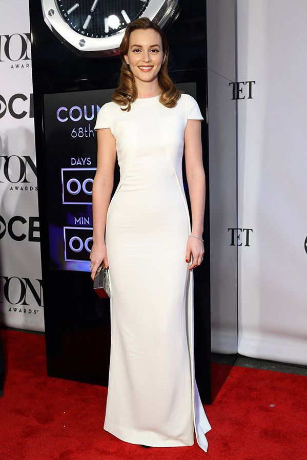 Leighton Meester white dress