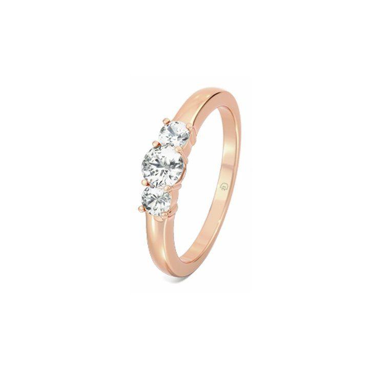 Pin for Later: Verlobungsringe aus Rotgold sind echte Multitalente  ROUBY Diamantring aus 750er Rotgold, Diamanten: 0.25 und 0.2 Karat (ursprünglich 1.585 €, jetzt 1.325 €)