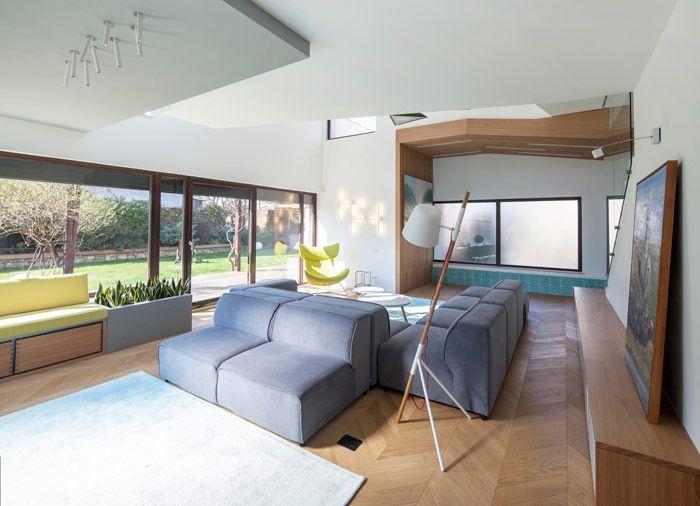 contemporary, simple, generous living room