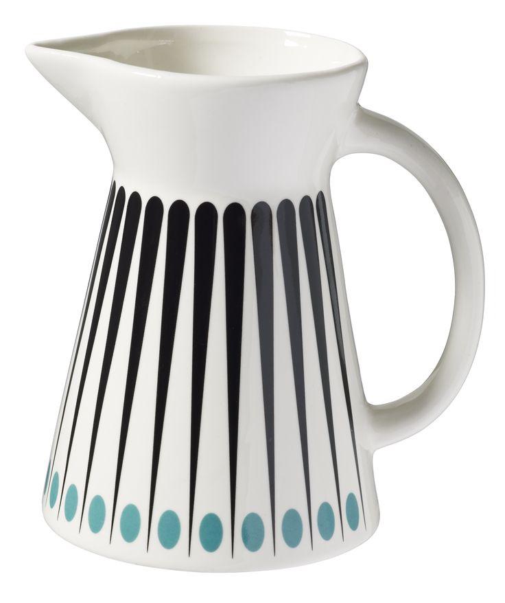 Milk Jug - Amanda - Aqua