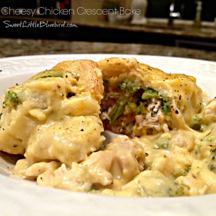 Sweet Little Bluebird: Cheesy Chicken Crescent Bake  http://www.sweetlittlebluebird.com/2014/10/cheesy-chicken-crescent-bake.html?m=1