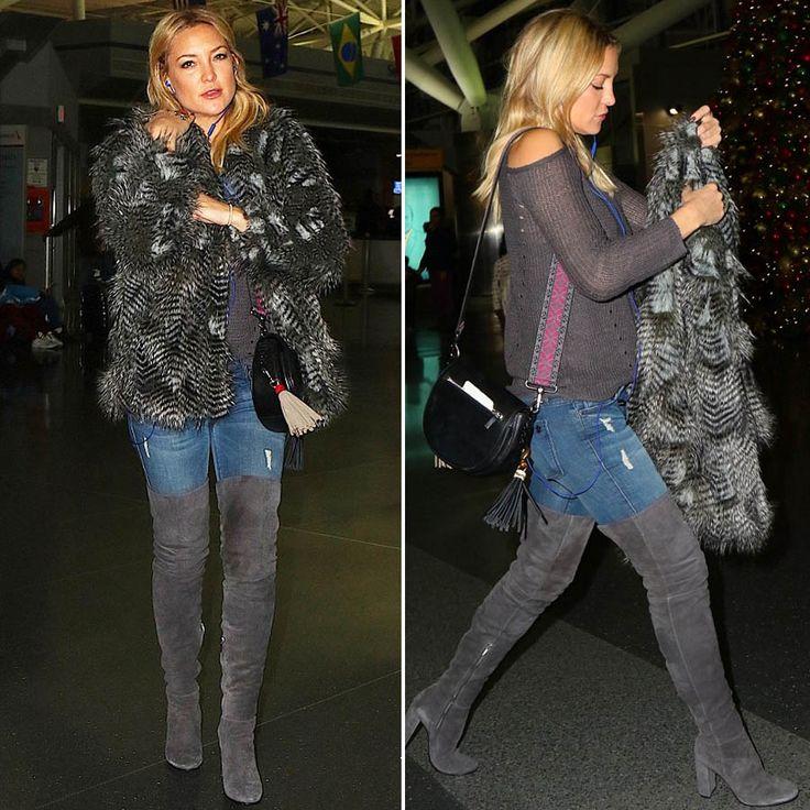 Кейт Хадсон была замечена в аэропорту Нью-Йорка в джинсах Black Orchid из летней коллекции, которые она удачно сочетала с ботильонами и свитером серого цвета и короткой шубкой.  В JiST вы сможете подобрать себе джинсы из зимней коллекции 2015/2016 в более темных варках этого известного американского бренда, который заслужил популярность благодаря идеальным лекалам и вниманию к деталям.