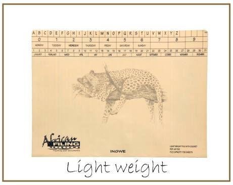 Light Weight - AFLWF050 - Leopard (Ingwe) capacity 50 sheets.