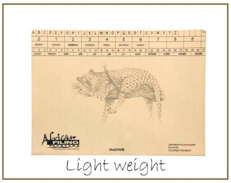 Light Weight - AFLWF050 - Leopard (Ingwe) capacity 50 sheets.