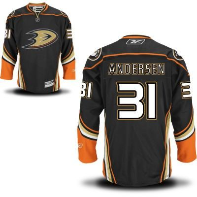 Anaheim Ducks 31 Frederik Andersen Third Jersey - Black [Anaheim Ducks  Hockey Jerseys 062]