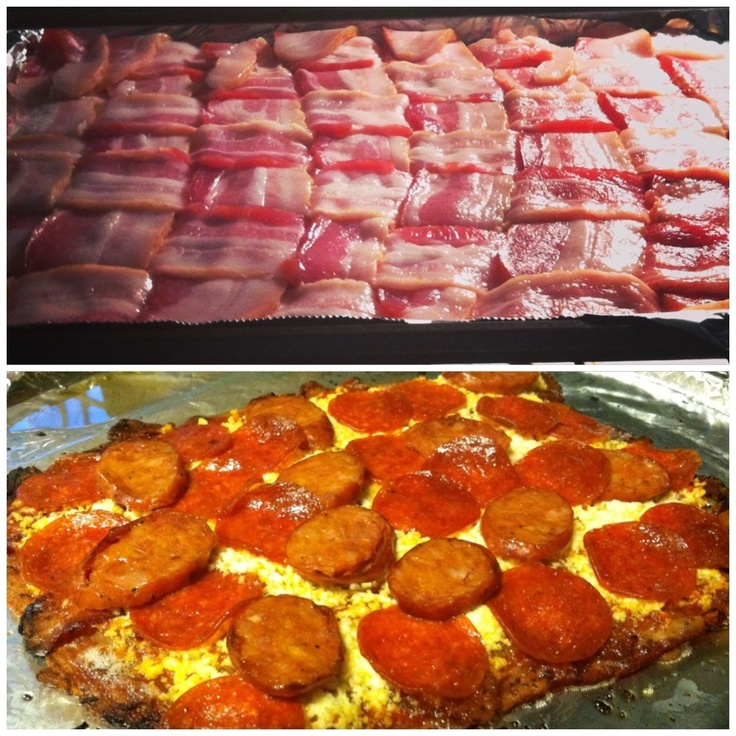 weave bacon crust for pizza | FOOD!! :D | Pinterest