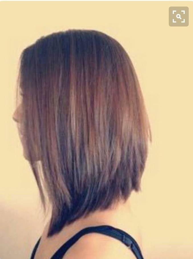 Hairdo Cascading layers shorter in back