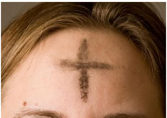 Religion. Above you see a picture of a woman with a cross on her head. That's there because she is celebrating Ash Wednesday. Ash Wednesday is a Christian holiday. Ash wednesday is a holiday celebrated on the first day of lent in western christianity. Ash wednesday Is a holiday celebrated by fasting before easter and putting a cross on your hand or head in ash.