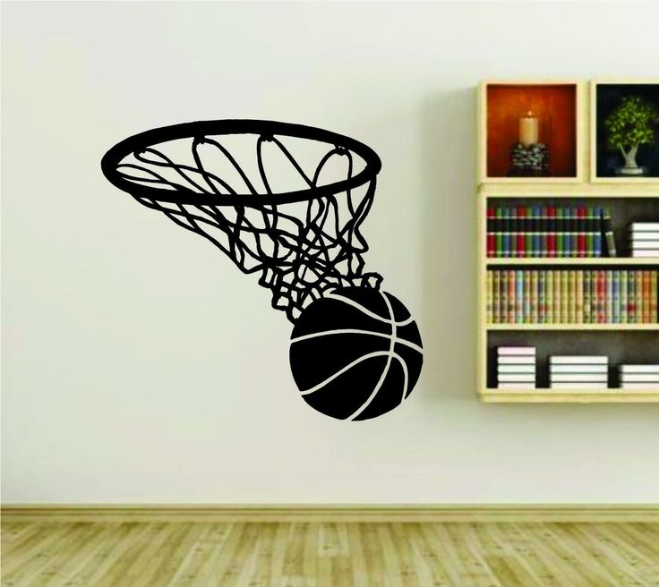 Basketball Rim Basket And Ball Version 101 Sports Vinyl Wall Decal Sticker