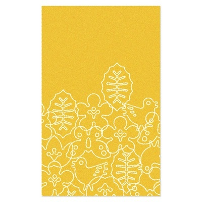 5x8 $349 free shipping  notNeutral Season White/Canary Yellow Kids Rug