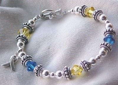 Down Syndrome Awareness Bracelet w/ Swarovski by sweetpea321, $42.00