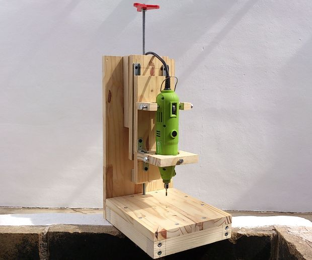 Rotary tool Drill press for ~$20