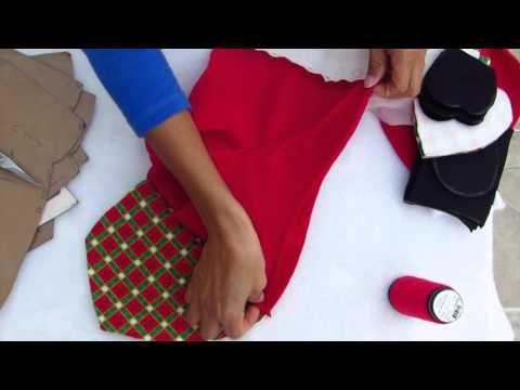 santa , muñeco de tela para navidad, muñequeria navideña - YouTube