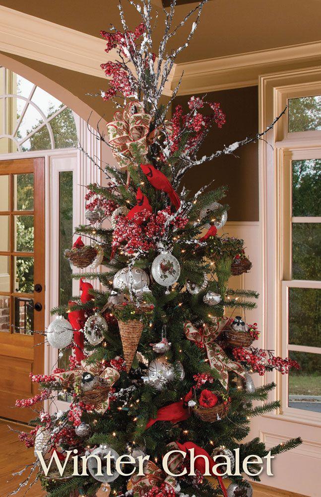 melrose designer christmas tree 2013 winter chalet - Designer Christmas Trees