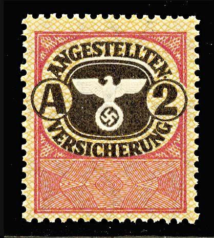 1937-1945 Nazi employee insurance stamp