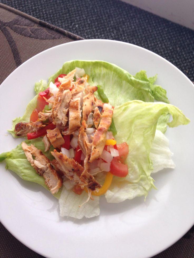 Home made chicken wrap minus the Tortola! So tasty :)