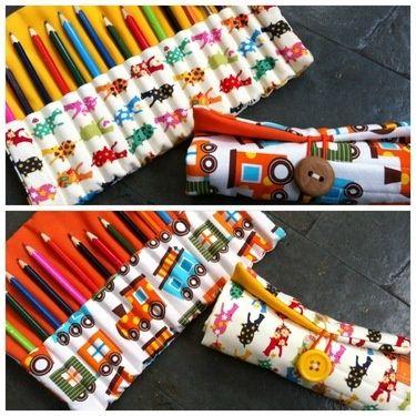 Original estuche para lápices (trenes)