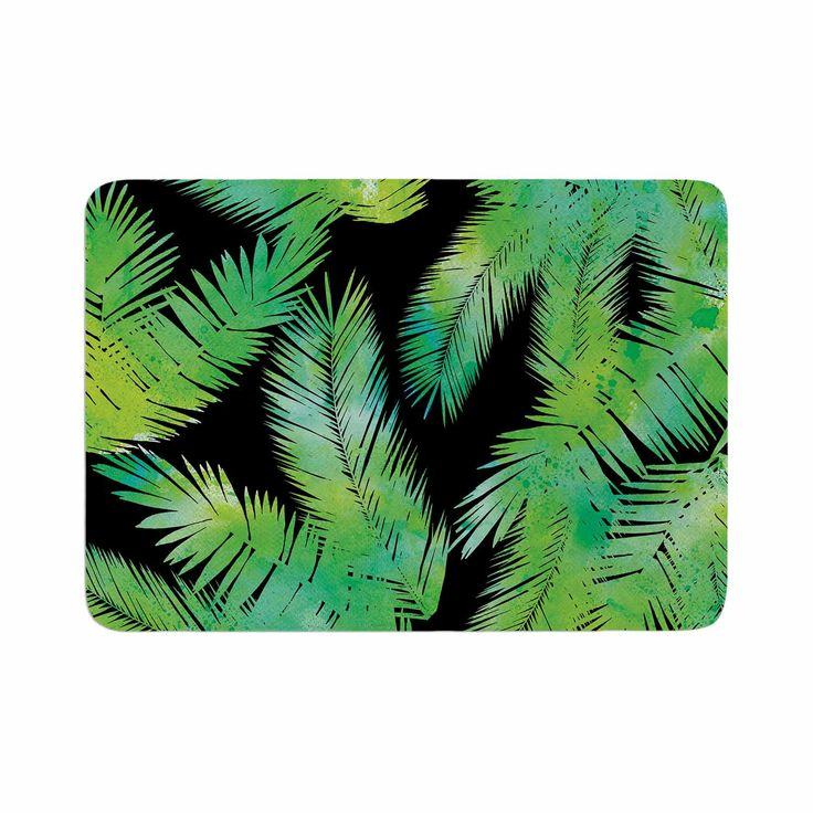 "Draper ""Tropic Green"" Black Nature Memory Foam Bath Mat"