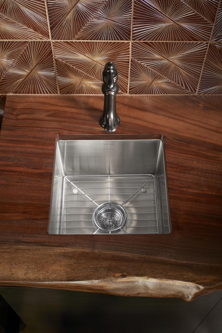 Artifacts Gentleman's Bar Faucet Strive Bar Sink Choosing two sinks from the same family for the primary and bar sink can bring continuity to the design of your space.