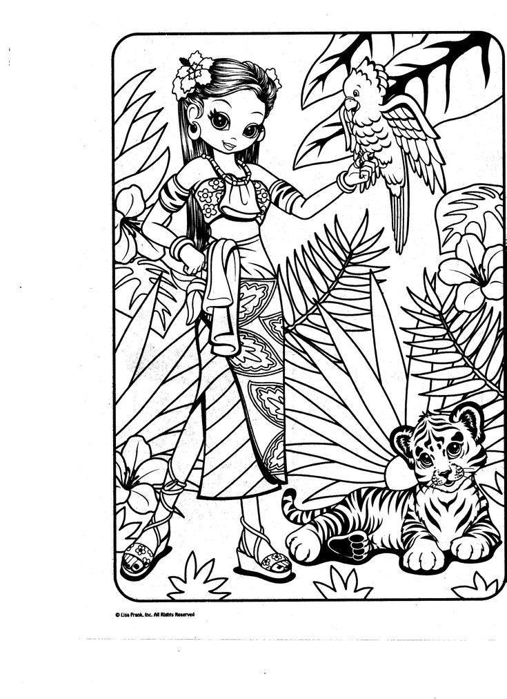 lisa frank fairy coloring pages - photo#15