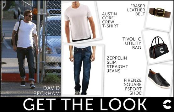 David Beckham looking effortlessly dapper in this basic up-do! Shop: http://www.freecultr.com/men/men-t-shirts/mens-crew-neck/austin-core-crew-t-shirt-slim-47.html?top_color=White http://www.freecultr.com/men-bottom-wear/zeppelin-weathered-dark-cotton-lycra-slim-straight-jeans.html