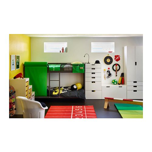 TUFFING Bunk bed frame  - IKEA I like all the other furniture for storage, not the bed.
