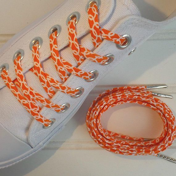 Orange shoe laces shoelaces made from fabric Custom shoe #customshoelaces #shoelaces #cutelaces #orange #orangeisthenewblack #orangeshoelaces #shoeaccessory