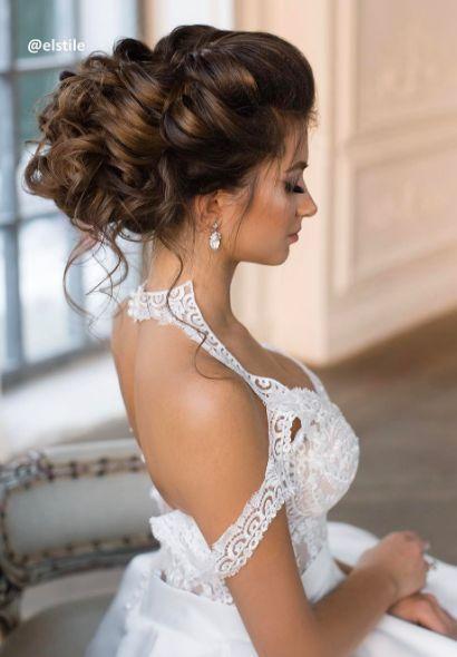 Featured Hairstyle: Elstile www.elstile.ru; Wedding hairstyle idea. #weddinghairstyles