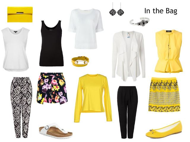 How to Pack Light: Yellow and Black | Beautiful, basic BLACK ...
