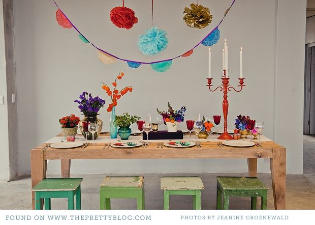 mexican fiesta inspired table decor
