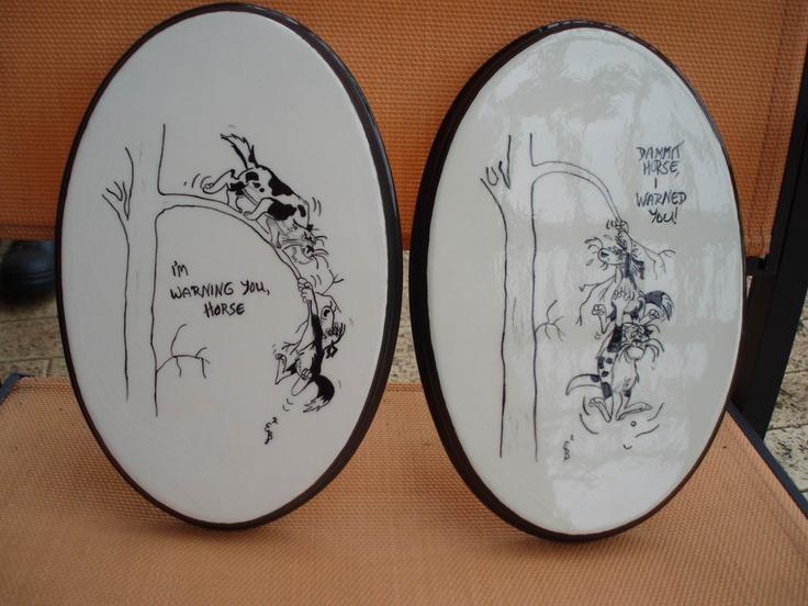 footrot flats wall plaques - classic kiwiana