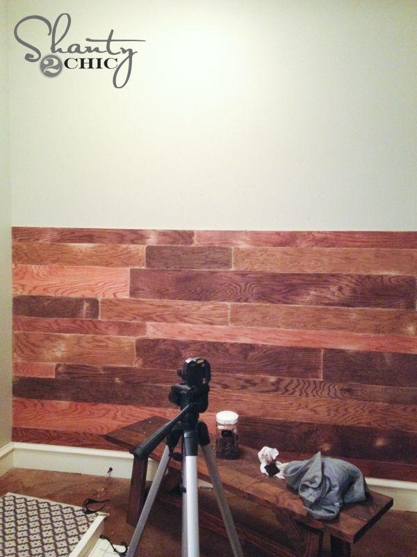 Plank wall diy plywood sheathing cut into plankes and for Plywood wall sheathing