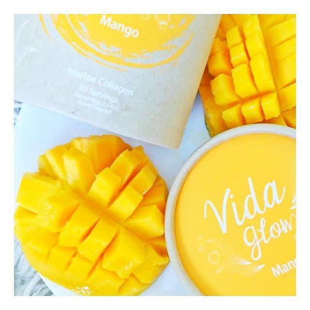 Light & Refreshing Mango Vida Glow via @nourish_naturally #VidaGlow #MarineCollagen